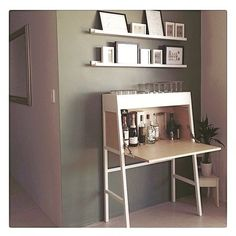 The IKEA PS 2014 desk totally rocks as a drinks cabinet. : @maree78 via @ikeainspiration