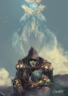 """""""Grenth, Prince of Ice, God of Death. He embodies inevitability, the  idea that all things have a time… and that time must inevitably pass.""""  — Desmina"""