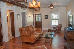 Beautifully grained laminate wood flooring is stunning and environmentally savvy