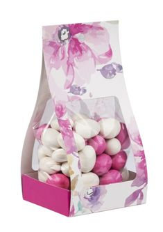 Floral bakery packs suitable for edible wedding favours. Edible Wedding Favors, South Africa, Bakery, Packing, Floral, Shopping, Bag Packaging, Flowers, Flower