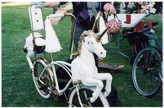 Unicorn Bicycle.  I just had to promise my daughter if I ever saw this anywhere, I would buy it for her.  So keep your eyes peeled.
