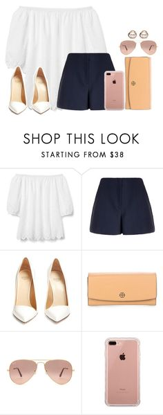 """""""Simple!"""" by oliviamtraxler ❤ liked on Polyvore featuring Gap, Theory, Francesco Russo, Tory Burch, Ray-Ban, Belkin and Trilogy"""