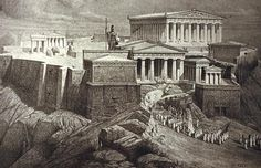Facts About the Acropolis in Athens - Primary Facts Parthenon, Acropolis, Ancient Greek Theatre, Greek And Roman Mythology, Athena Goddess, Famous Buildings, Ancient Greece, Athens, Places To Go