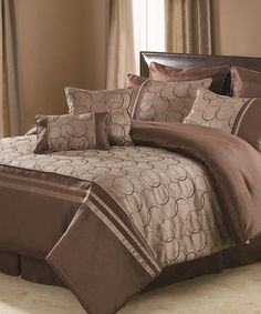Take a look at this Taupe Daylan Comforter Set by Victoria Classics on #zulily today!