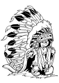 yakari indien à colorier