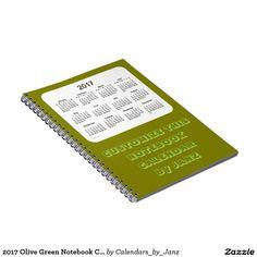 2017 Olive Green Notebook Calendar by Janz