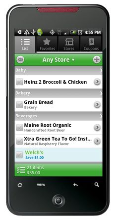 grocery list with prices app