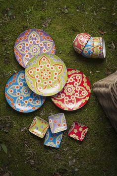 I wouldn't even use these hand painted plates. I'd hang them on the wall as art.