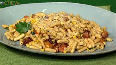 Michael Symon's Bacon and Corn Cavatelli recipe. #thechew