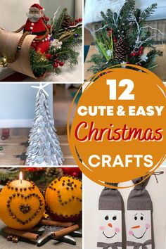 Get cute and cheap Christmas DIY ideas and make your own holiday decoration this year. Using natural materials, like wood, oranges, leaves, pine cones you can create a beautiful Christmas decoration in no time. Easy Christmas crafts for kids and adults. Cheap Christmas, Christmas Crafts For Kids, Simple Christmas, Christmas Holidays, Christmas Bulbs, Beautiful Christmas Decorations, Holiday Decor, Do It Yourself Crafts, Creative Crafts