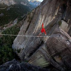 Tightrope Walking, Yosemite, CA.