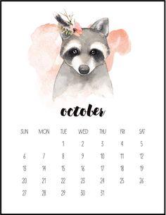 Free Printable 2019 Watercolor Animal Calendar 2019 is only 5 months away…if you like to get your 2019 Calendar Early…come … Calendar 2019 Printable, Cute Calendar, Calendar 2019 Monthly, Creative Calendar, Calendar Pictures, Calendar Ideas, Advent Calendar, Kalender Design, Calendar Wallpaper
