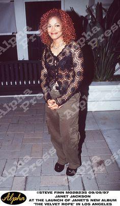 "09/09/97 JANET JACKSON ATTENDS "" THE VELVET ROPE "" ALBUM LAUNCH IN LOS ANGELES CALIFORNIA"