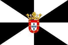 Bandera de la Ciudad Autónoma de Ceuta.
