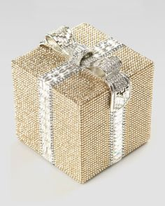 how pretty is this???  Crystal Cube Gift Clutch Bag by Judith Leiber at Neiman Marcus.