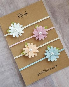 If you like different color please leave me massage in note to seller box at checkout. felt flower headband in color white , pink , peach and light blue measure approximately diameter attached to skinny elastic headband. Dont forget to select the appr Felt Headband, Flower Girl Headbands, Baby Flower Headbands, Newborn Headbands, Toddler Headbands, Baby Girl Bows, Girls Bows, Making Hair Bows, Diy Hair Bows