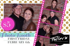 Valentines Day photo booth at Fullers Photography studio during February First Friday