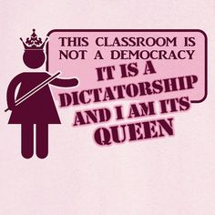 Queen of the Classroom Funny Graphic T-Shirt ... I would <3 this for Christmas. Funny !