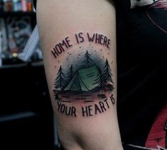 Tattoo idea/indie/American traditional/tattoo/camping