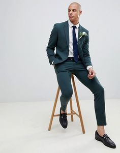 Find the best selection of River Island wedding super skinny suit jacket in dark green. Shop today with free delivery and returns (Ts&Cs apply) with ASOS! Rap History, Skinny Suits, Slim Suit, Fashion Advice, Fashion News, Island Weddings, Signature Style, Blue Plaid, Super Skinny