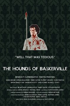 The Hounds of Baskerville Sherlock poster   http://www.etsy.com/listing/119005564/the-hounds-of-baskerville-alternative
