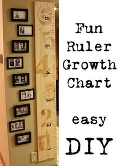 Fun DIY Ruler Growth Chart Project..