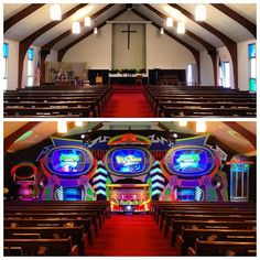Great week, sharing the Gospel with the families around Rochester, NY here's a before/after shot of our invasion a Glad Tidings A/G - #AlienChurchMakeover #KidzturnChurchMakeover