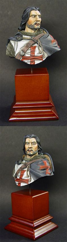 "Knights Templar:  ""#Knight #Templar Bust,"" by Vahilor, at deviantART."