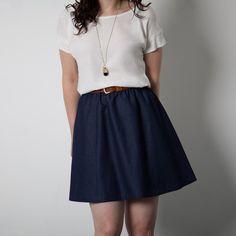 Schnittmuster: 1404 Rae Skirt - Version A: Minirock