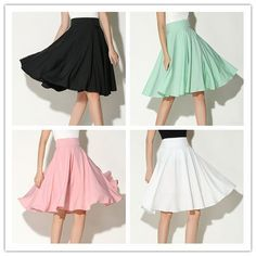5b23d52ad CHOiES record your inspired fashion Women's Pink/BlackBlue/White Solid High  Waist Trumpet Midi Skirt (10 Colors) at Amazon Womens Clothing store: