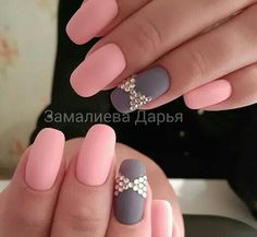 Want some ideas for wedding nail polish designs? This article is a collection of our favorite nail polish designs for your special day. Fancy Nails, Trendy Nails, Cute Nails, Gray Nails, Pink Nails, Matte Pink, Pink Grey, Blush Pink, Nail Polish Designs