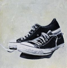 shoes Etsy oil painting canvas by memorieswarehouse on Etsy