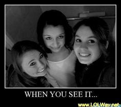 LOL Way - When You see it ! ( 39 scary Photos ) HINT: between the left and middle girl Scary Photos, Creepy Pictures, Funny Pictures, Funny Pics, Funny Quotes, Funny Memes, Hilarious, Jokes, I Spy Books
