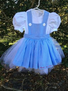 "12 month Vintage Dorothy Dress Handmade in the USA by Sweet Janes Clothing  ""There's no place like home"""