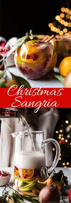 Sangria Celebrate the holidays and National Sangria Day! Create this Christmas sangria for your holiday party!Celebrate the holidays and National Sangria Day! Create this Christmas sangria for your holiday party! Christmas Sangria, Holiday Cocktails, Processco Cocktails, Summer Cocktails, Pomegranate Cocktails, Winter Sangria, Christmas Cocktail Party, Summer Sangria, Xmas Food