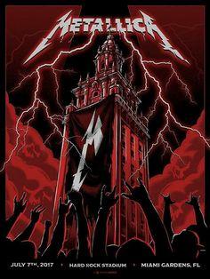 Rock Posters, Band Posters, Concert Posters, Metal Bands, Rock Bands, Kirk Metallica, Estilo Dark, El Rock And Roll, Heavy Metal Rock