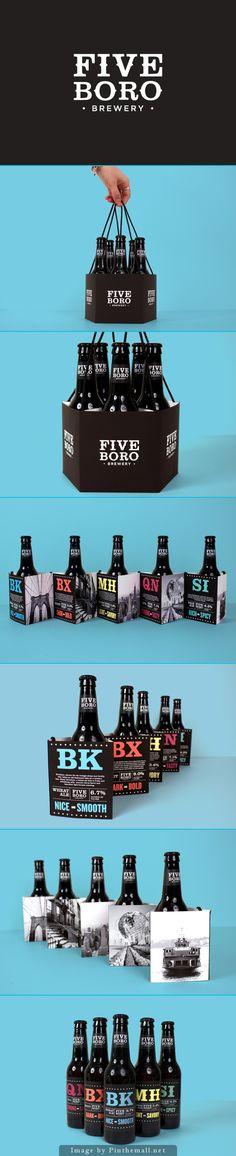 Five Boro Brewery #Packaging #Design #BeerPackaging