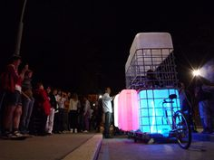 Glowing Mobile Bars Are an Upcycled Roving Party!