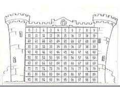 Resultado de imagen para castillo de numeros del 0 al 99 1st Grade Math, Math Class, Primary Maths, Primary School, Learning Tools, Fun Learning, Math Sheets, Purpose Driven Life, Substitute Teacher