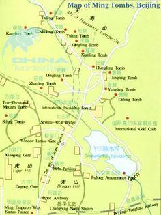 Map of Ming Tombs, Beijing