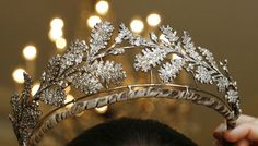 19th century, oak leaves, diamonds, tiara looks like ice fairy fantasia christmas love it!