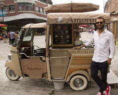 Food Inspiration Ape Piaggio Street Food Gelati - Food Rings Ideas Inspirations Discover Ape Piaggio Street Food Gelati Discovred By Jessica Coffee Carts, Coffee Truck, Coffee Shop, Food Trucks, Kombi Trailer, Food Trailer, Mobile Cafe, Mobile Shop, Mini Camper
