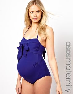such a cute maternity swimsuit! although I find it doubtful I'll be getting in a swimsuit when I'm this pregnant