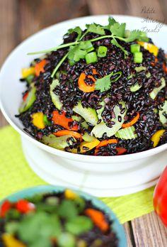 Black Rice Vegetable Stir Fry| PetiteAllergyTreats- Gluten free, Vegan ...