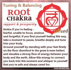 First (Root) Chakra TUNING - Color: Red, Location: Base of spine Body Parts…