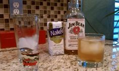 Coconut water and Jim beam make for an easy, tasty cocktail