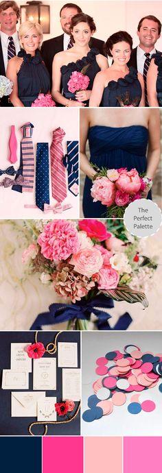 свадьба в синем и розовом цветах  #wedding #palette #navyblue #pink
