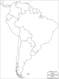 Free Maps, South America, My Drawings, Outline, Tatoos, Diagram, 1, Irene, Bonsai