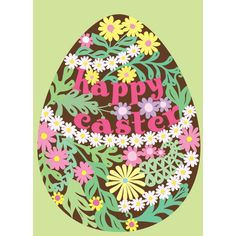 Happy Easter Glitter Card | New | Oliver Bonas