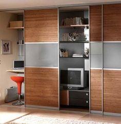 More sliding doors to create hidden closet...